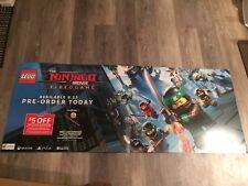 Rare- Lego -Ninjago Movie Video Game 21x53 Inch  Cardboard Promo Poster Banner