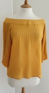 M&S LIMITED COLLECTION - DARK YELLOW SILK BLOUSE - UK10 - EXCELLENT CONDITION