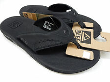 REEF MENS SANDALS FANNING ALL BLACK SIZE 8