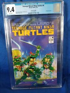 💥Teenage  mutant ninja turtles 4 2nd print💥 MIRAGE - CGC 9.4 NM ... HTF, LPR