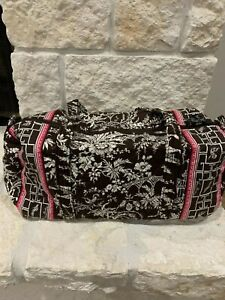Vera Bradley Imperial Toile Small Duffel Brown and Pink NWT