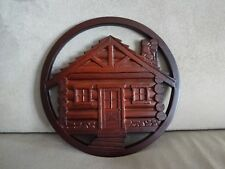 BOMA Recycled Glass LOG CABIN Trivet 100% Canadian Made Beautiful NEW