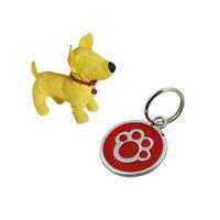 Anti-lost Puppy Dog Cats Collar ID Tags Pendant Mini Claw Print Pet Supplies