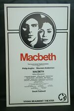 "Macbeth Theater Broadway Window Card Poster 14"" x 22"""