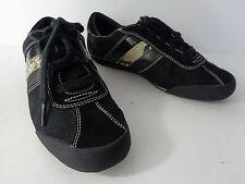 COACH Mable US Womens 8M Black Monogram Jacquart & Leather Lace Up Sneaker Shoe