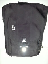 TIMBUK2 Upright Messenger Laptop Case Computer Travel Bag Canvas Black Sz 19X14