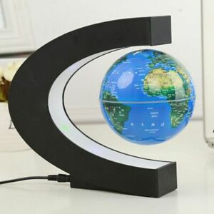Magnetic Levitation Globe Floating World Map LED Night Light Rotation Globe Gift