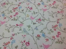 Clarke and Clarke Bird Trail (grey)Cotton Fabric for Curtain/Upholstery,Quilting