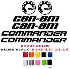 (#612) BRP CAN-AM COMMANDER HOOD 800 1000 MAX XT TURBO STICKER DECAL