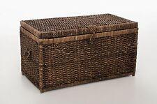 VIVANNO Truhe Wäschetruhe aus Wasserhyazinthe 'Lea', 84cm, braun