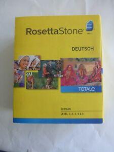 Rosetta Stone Deutsch TOTALe Version 4 German Level 1-5 - Excellent Condition!
