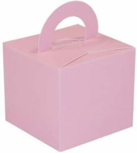 Pale Pink Balloon Weight/Favour/Gift Boxes x 10