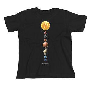 Kids ORGANIC T-Shirt PLANETS Astronomy Space Sun Moon Stars Telescope Unisex Top