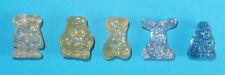 5 Gogos Punk weiß gold blau Glitter Gogo Gogo's Crazy Bones Classics Figuren