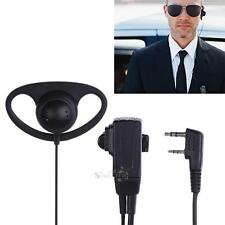 2 Pin D-Shape Earpiece Headset MIC PTT for Baofeng Kenwood Puxing TYT Radio New