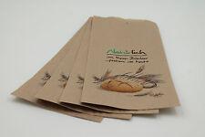 1000 Bäckerbeutel Faltenbeutel Bäckertüten, 12+5x25cm, Nr. 418, braun Natürlich