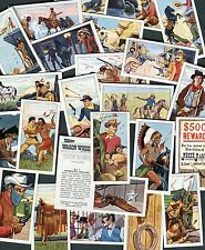 "BURTON'S WAGON WHEELS 1972 SET OF 25 ""THE WEST"" WILD WEST TRADE CARDS"
