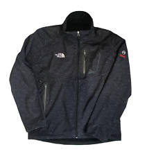 The North Face Serie Summit Goretex Chaqueta Talla XL gris cuello alto bolsillos con cremallera