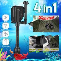4-IN-1 Aquarium Wave Maker Internal Purifier Filter Oxygen Water Pump Fish
