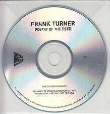 FRANK TURNER Poetry Of The Deed UK 13-trk watermarked & numbered promo CD + PR