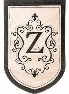 "Monogram ""Z"" ESTATE SIZE House Flag-Evergreen-Double Sided Appliquéd-36""x54"""