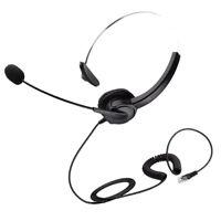 RJ9 Call Center Noise Cancelling Headset Headphone for Office Desk Telephone