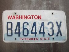 Washington (B46443X) American License Number Plate Collecting Craft Hobby