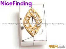 Magnet 14K Gold Filled Zircon Necklace Clasp Finding For Jewelry Making 10x16mm