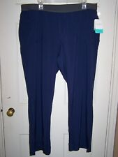 Cherokee Infinity Low Rise Pull On Blue Size Xl Petite Scrub Pants 1124A