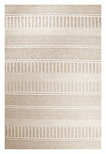 SUNSET CREAM INDOOR OUTDOOR MODERN FLOOR RUG (XS) 80x150cm **FREE DELIVERY**