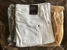 Brand New James Jeans Women's White High Class Cigarette (32) Jeans/Free S&H