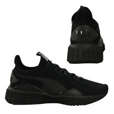Puma Defy Womens Trainers Slip On Lace Up Running Shoes Black 190949 10 Q3