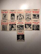 Lot 1961 Nu-Cards Baseball Scoops Baseball Cards 11 Cards