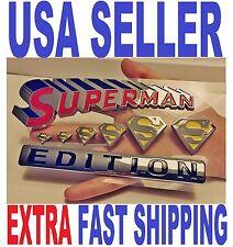 💯 SUPERMAN FAMILY 💎 Chrome 3D Auto Emblem Car Truck SUV Decal Logo Comics *NEW