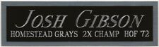 JOSH GIBSON GRAYS NAMEPLATE FOR AUTOGRAPHED Signed JERSEY-BASEBALL-BAT-PHOTO-CAP