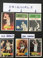 1961 Bill Russell #62 / 1961 KC Jones #22 / 1957 Jim Loscutoff #39 + (3 others)
