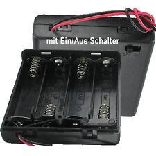 100 St Batteriehalter 4 x Mignon AA LR6 geschlossen Ein-Ausschalter incl De Vers
