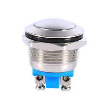 Round Vehicle Waterproof 12V Latching On Off Metal Push Button Switch Cool LY