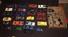 Vintage lot of plastic model cars 25+  Junkyard parts pieces