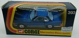 Corgi blue Mercedes-Benz 350SL #393 Made in Great Britain in 1973 w/original box