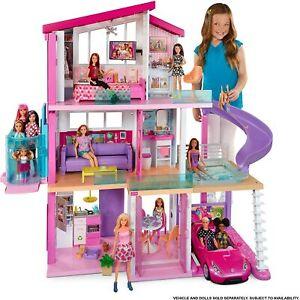 Barbie GNH53 Dreamhouse Playset Girls 3 Story Doll Dream House Play Set 2020