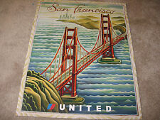 UNITED AIRLINES SAN FRANCISCO TRAVEL POSTER 2001 TIM ZELTNER ORIGINAL UAL ISSUE