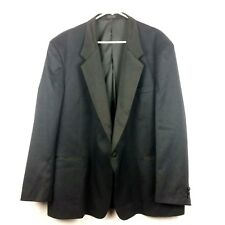 Giorgio Ferraro Mens Tuxedo Blazer Size R52 One Button Jacket Black Satin Lapel