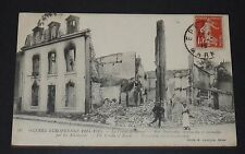 CPA 1915 CARTE POSTALE GUERRE 14-18 REIMS BOMBARDEMENTS RUE PONSARDIN