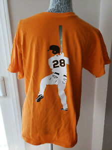 Buster Posey SF Giants Orange Mens T Shirt Medium