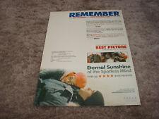 Eternal Sunshine Of The Spotless Mind Oscar ad & The Aviator Leonardo DiCaprio