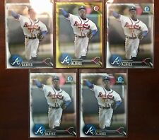 Ozzie Albies RC's 2016 Bowman Chrome Yellow 5-card lot Braves RED HOT!!!