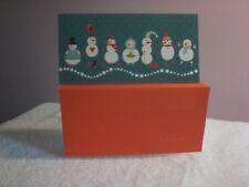 For Arts Sake - Christmas Card - Money Wallet - Seven Snowmen on front