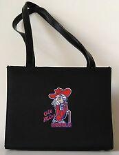 Ole Miss Colonel Reb Black Handbag/Purse