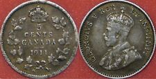 Very Fine 1911 Canada Silver 5 Cents